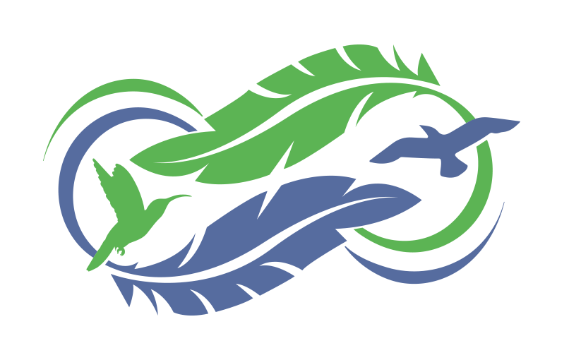 meeting logo feather element