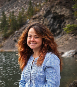 photo of emily williams by a lake